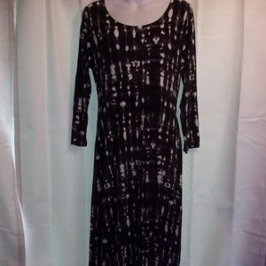 Cynthia Rowley Sz L 14-16 Black White Maxi Dress